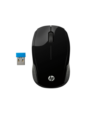 MOUSE HP WIRELESS OPTICAL 200 BLACK (SBCC0072)