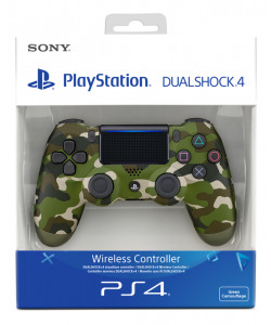 LEVE PLAYSTATION SONY PS4 DUALSHOCK V2 WIRELESS GREEN CAMUFLAGE